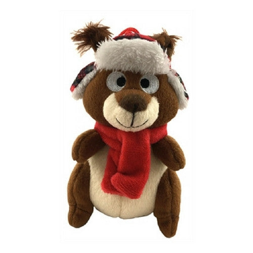Lulubelles Power Plush Chester the Squirrel Holiday Squeaker Dog Toy