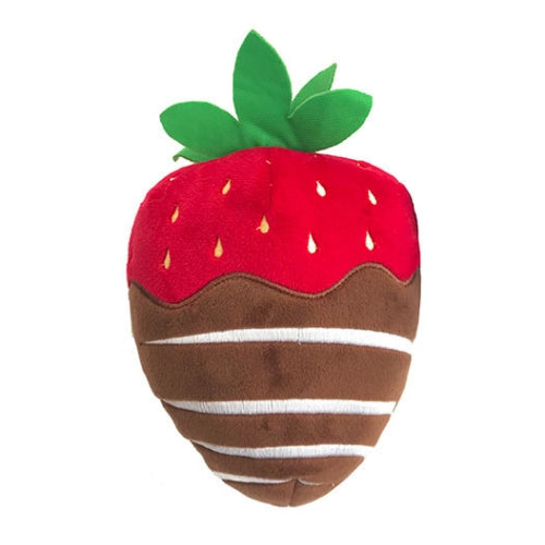 Lulubelles Power Chocolate Covered Strawberry Valentines Dog Toy