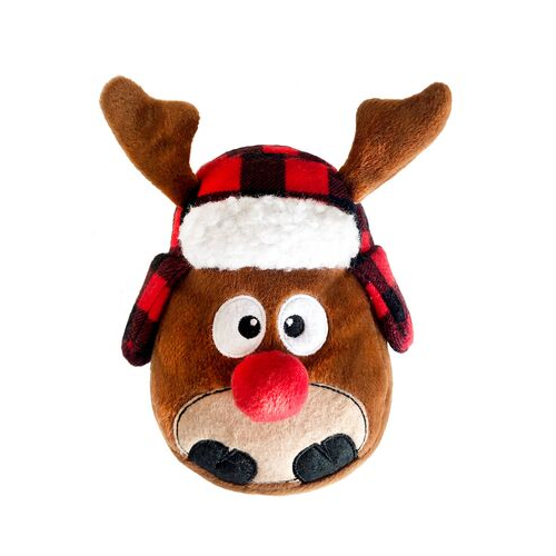 Lulubelles Floyd Reindeer Power Plush Holiday Dog Toy
