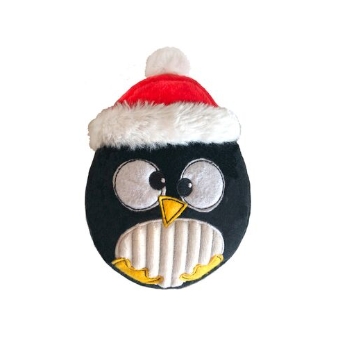 Lulubelles Santa Puddles Penguin Power Plush Holiday Dog Toy