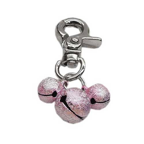Mirage Pet Products Bell Dog Collar Charm — Light  Pink