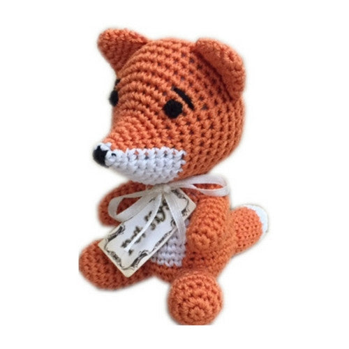 Fox Mirage Pet Products Knit Knacks Organic Cotton Dog Squeaky Toy