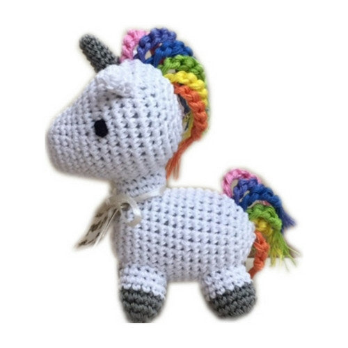 Unicorn Mirage Pet Products Knit Knacks Organic Cotton Dog Squeaky Toy