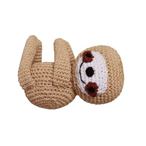 Baby Sloth Mirage Pet Flys Knit Knacks Organic Cotton Dog Squeaky Toy