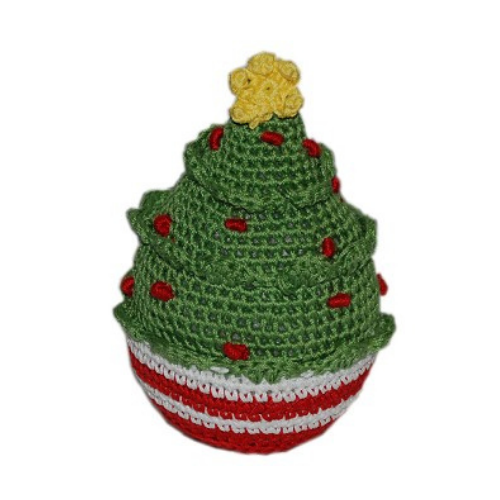 Christmas Tree Pet Flys Knit Knacks Organic Cotton Dog Toy
