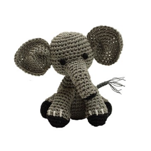 Baby Elephant Mirage Pet Flys Knit Knacks Organic Cotton Dog Squeaky Toy
