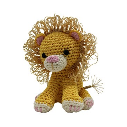 King Lion Mirage Pet Flys Knit Knacks Organic Cotton Dog Squeaky Toy