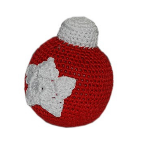Christmas Ornament Ball Pet Flys Knit Knacks Organic Cotton Dog Toy
