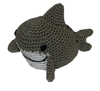 Shark Pet Flys Knit Knacks Organic Cotton Dog Squeaky Toy
