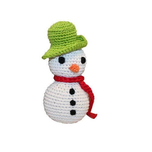 Frost the Snowman Pet Flys Knit Knacks Organic Cotton Dog Toy
