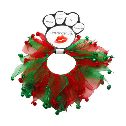 Christmas Bells Fuzzy Wuzzy Smoocher Dog Neckwear