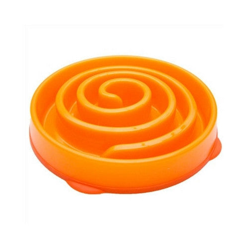 Outward Hound Fun Feeder Interactive Slow Feed Dog Bowl — Coral