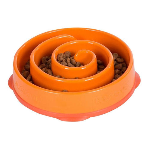 Outward Hound MINI Fun Feeder Interactive Feeder — Coral Orange