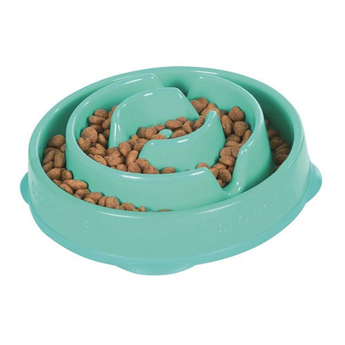 Outward Hound MINI Fun Feeder Interactive Feeder — Teal Drop