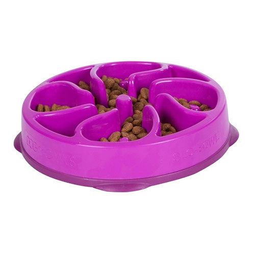 Outward Hound MINI Fun Feeder Interactive Feeder — Flower Purple
