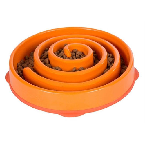 FunFeeder Interactive Slow Feed Bowl — Coral