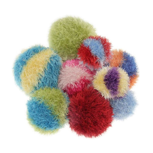 OoMaLoo Squeaky Furry Ball Plush Dog Toy