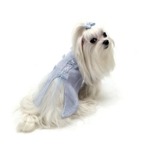 Oscar Newman Ethereal Twilight Designer Dog Sweater Back View on Dog