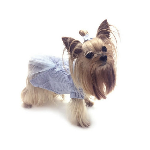 Oscar Newman Ethereal Twilight Designer Dog Sweater Side View on Dog