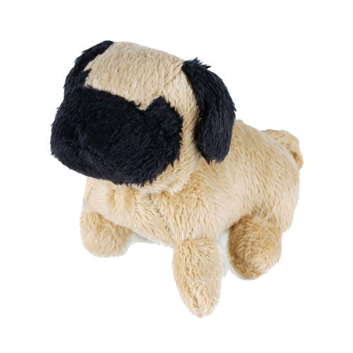 Oscar Newman Pipsqueak Puppy Small Breed Squeaky Dog Toy — Pug