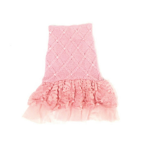 Oscar Newman Pearls of Paradise Ballet Pink Designer Dog Sweater