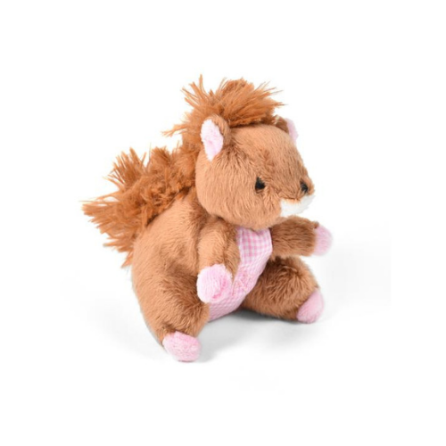 Oscar Newman Pipsqueak Squirrel Small Breed Squeaky Dog Toy — Pink