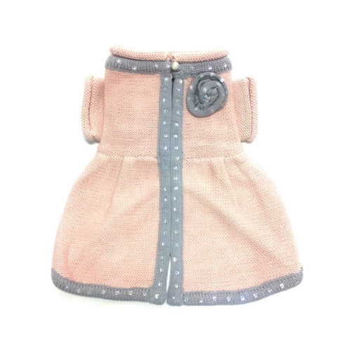 Oscar Newman Couture Princess Charlotte Designer Dog Sweater Dress