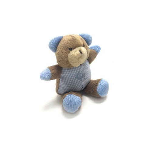 Oscar Newman Safari Pipsqueak Small Breed Squeaky Dog Toy — Teddy Bear Blue