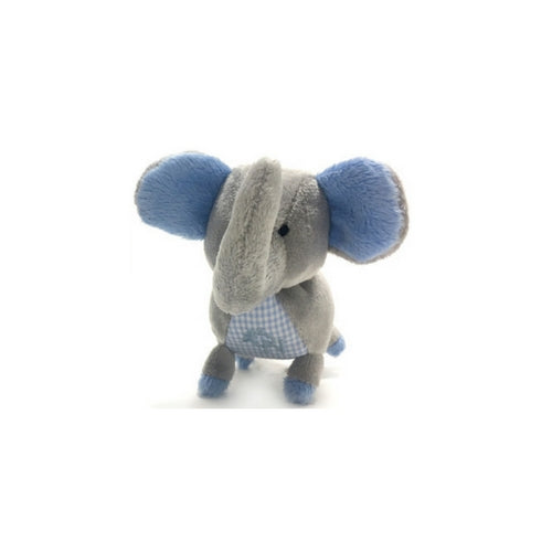 Oscar Newman Safari Pipsqueak Small Breed Squeaky Dog Toy — Elephant Blue