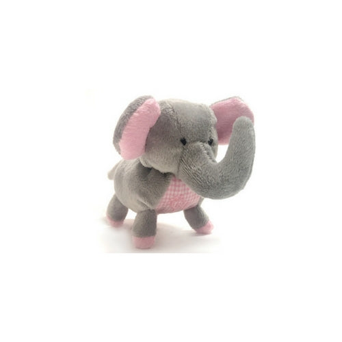 Oscar Newman Safari Pipsqueak Small Breed Squeaky Dog Toy — Elephant Pink