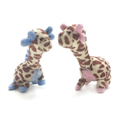 Oscar Newman Safari Pipsqueak Small Breed Squeaky Dog Toy — Giraffe