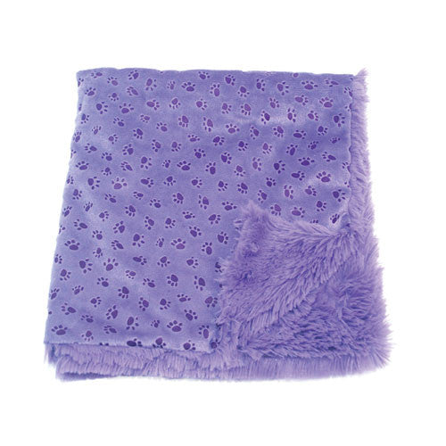 Oscar Newman Paw Prints on My Heart Blankie Dog Blanket — Violet