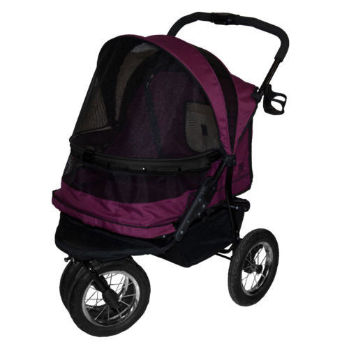 Pet Gear No-Zip Double Pet Dog Stroller Boysenberry
