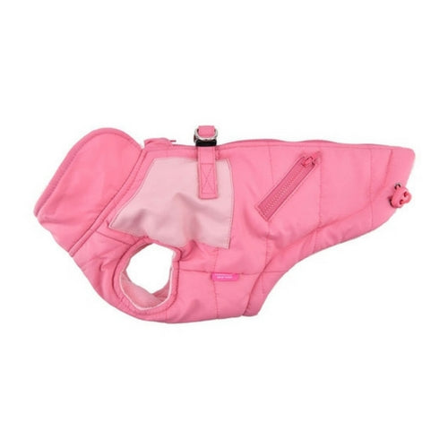 Pinkaholic New York Tintin Winter Dog Harness Coat Indian Pink Side View