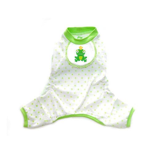 Pooch Outfitters Adorable Frog Cotton Four Legged Dog Pajamas
