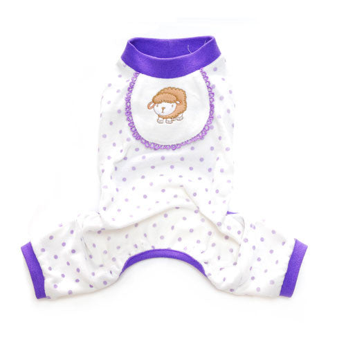 Pooch Outfitters Adorable Sheep Cotton Four Legged Dog Pajamas