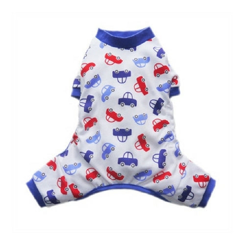 Pooch Outfitters Adorable Car Cotton Four Legged Dog Pajamas