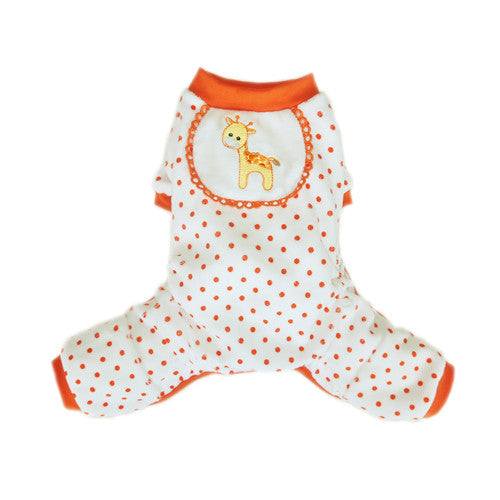 Pooch Outfitters Adorable Giraffe Cotton Four Legged Dog Pajamas