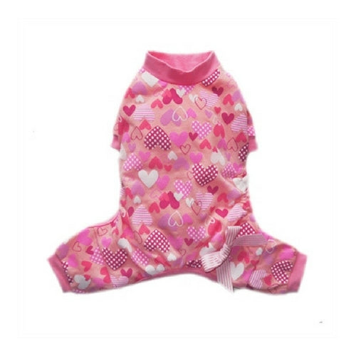 Pooch Outfitters Adorable Heart Cotton Four Legged Dog Pajamas