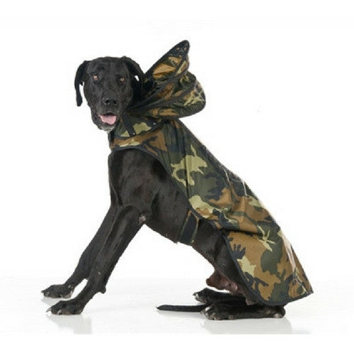 Push Pushi Puddle Jumper Dog Raincoat — Woodlands Camouflage