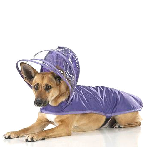 Push Pushi Rainbow Solid Color Dog Raincoat — Purple