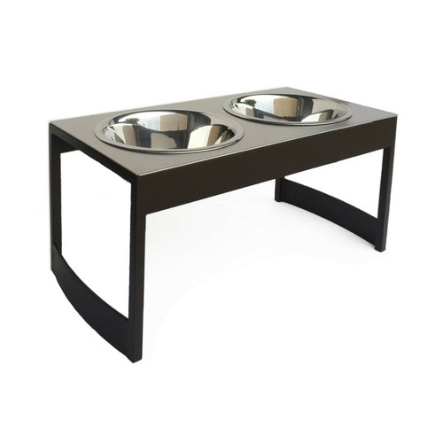 Pets Stop Steel Indus Double Diner Elevated Dog Feeder Bowls