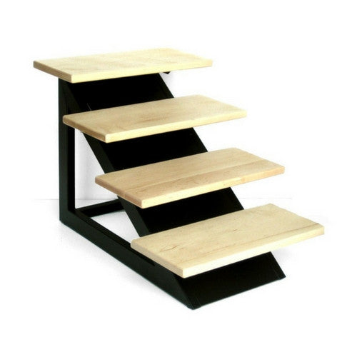 Pets Stop Modern Maple Wood Steps and Wrought Iron Base Loft Pet Stair Side View