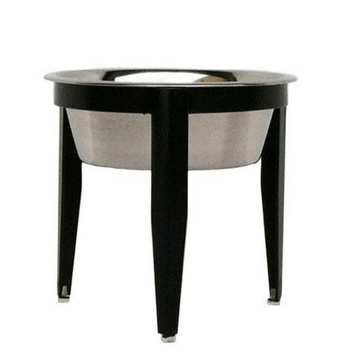 Pets Stop Wrought Iron Vision Single Diner Elevated Dog Bowl — Black