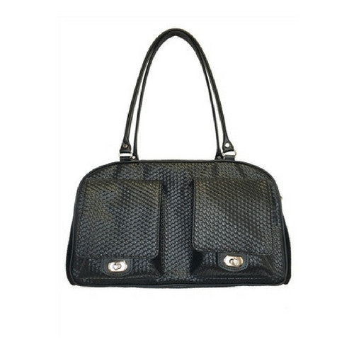 PETOTE Marlee Bag Airline Approved Travel Dog Carrier — Black Woven