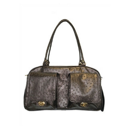 PETOTE Marlee Bag Airline Approved Travel Dog Carrier — Bronze Ostrich
