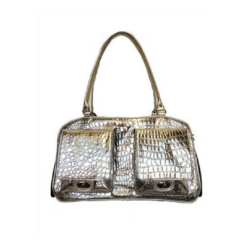 PETOTE Marlee Bag Airline Approved Travel Dog Carrier — Silver Gator