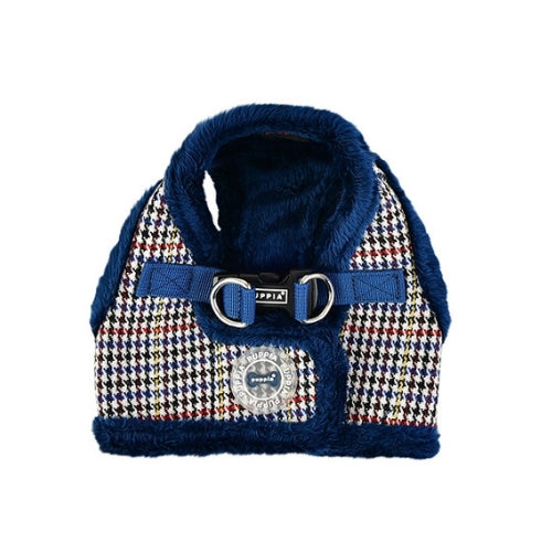 PUPPIA Auden Vest Dog Harness Blue Back View
