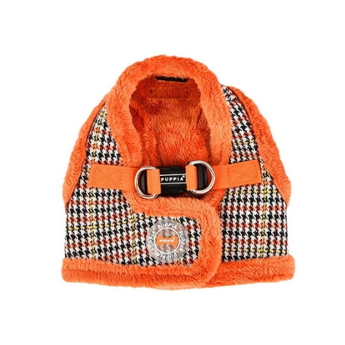 PUPPIA Auden Vest Dog Harness Orange Back View