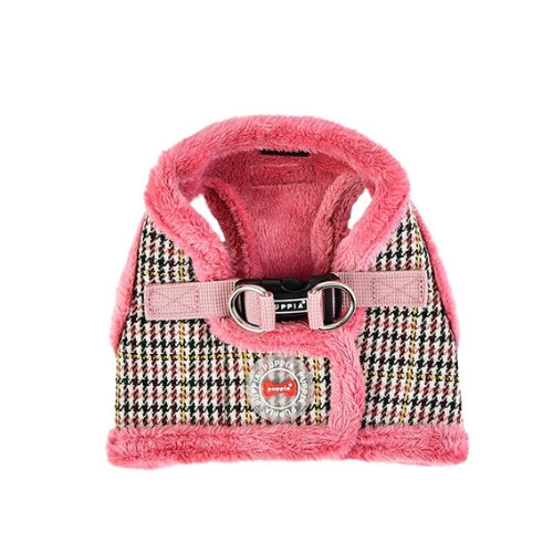 PUPPIA Auden Vest Dog Harness Pink Back View